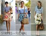 stripes floral