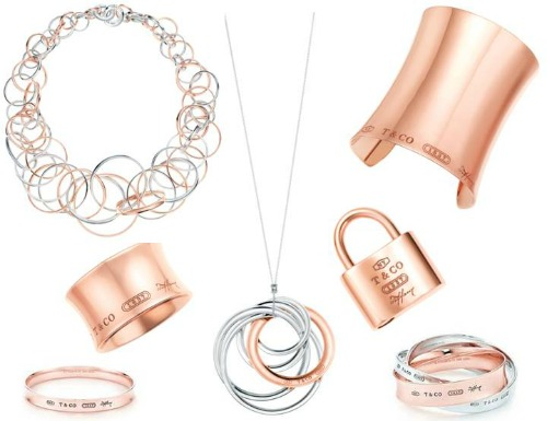 images of Tiffany's RUBEDO jewellery