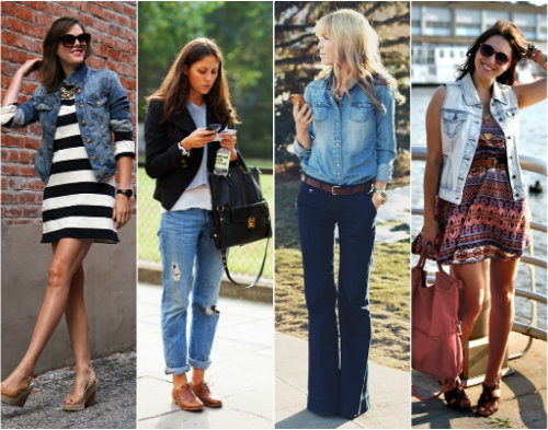 1 Kate Spade Sungles 2 Top Vest 3 Old Navy Jacket 4 J Brand Jeans 5 Crew Belt 6 Bcbg Max Azria Skirt 7 Modcloth Dress 8