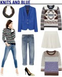 blue and knit
