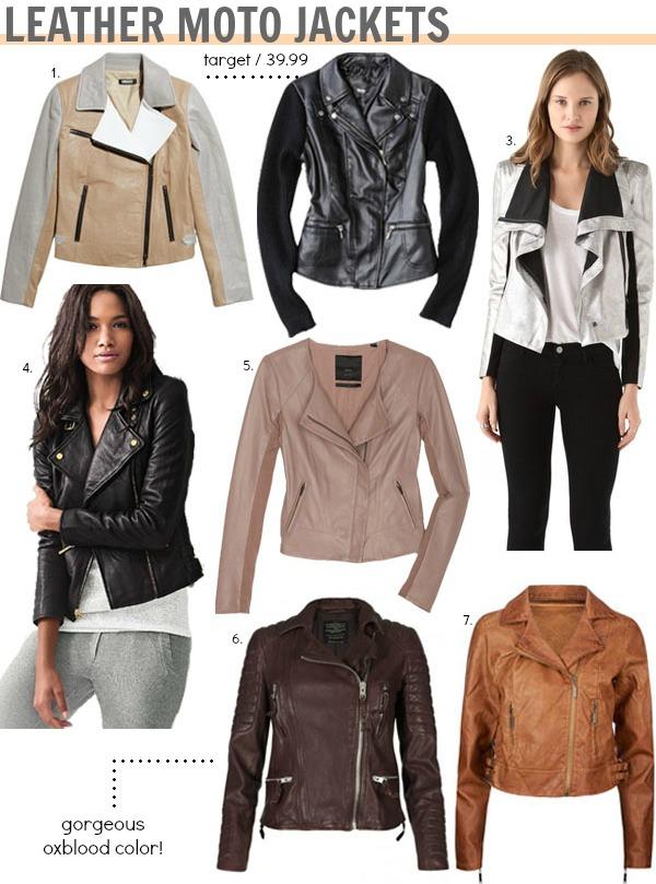 BCBG metallic jacket / 4. Victoria's Secret black jacket 5. Veda jacket / 6. AllSaints jacket / 7. Tilly's jacket / Image 1, 2