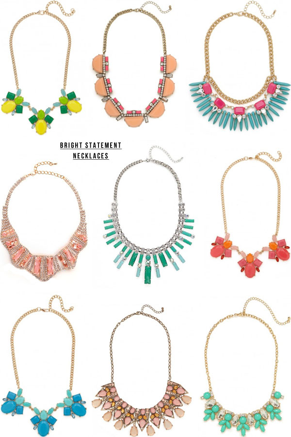 bright statement necklaces